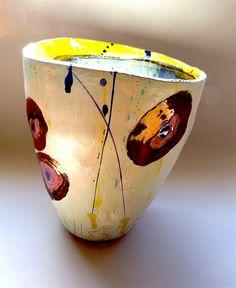 lisa styles / Slipped terracotta vessel, 30cmsH x 24cmsW, August 2013