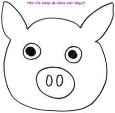 1maman2filles coloriage cochon