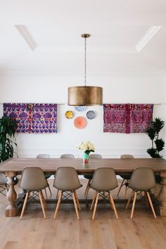 purple wall hangings