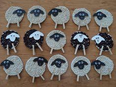 Ovečky - tvoření z fazolek