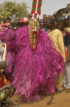 Africa | Bobo Masquerader. Sancri, Burkina Faso | ©Sergio Pessolano: