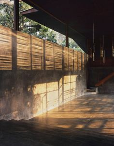 windows up to top on exposed concrete finish     Belavali House / Studio Mumbai