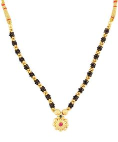 Buy Craftsvilla Traditional Handmade Jewellery Black And Golden Mani Gold Plated Alloy Necklace For Women And Girls Online Ethnic Wear Designer, Girl Online, Handmade Jewellery, Gold Necklace, Traditional, Beads, Girls, Stuff To Buy, Jewelry