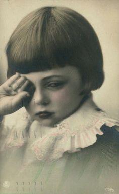 A Little Melancholy  1920s postcard