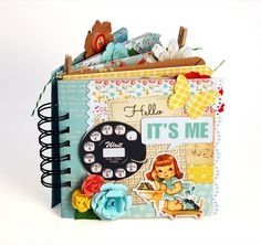 Vintage girl mini album / premade scrapbook/ retro by KBandFriends
