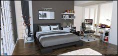 Sketchup Vray Interior Bedroom by ahmetcokelek.deviantart.com on @DeviantArt