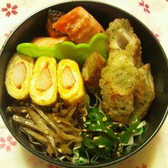 焼き鮭&磯辺揚げ弁当 あっこりんmamaの節約生活
