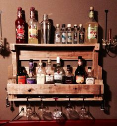 pallet liquor rack. Wine Or Liquor Shelf Made From A Wood Pallet Rack R