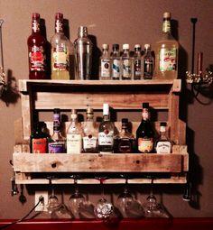 Pallet Liquor Shelf   House Projects   Pinterest   Shelves ...