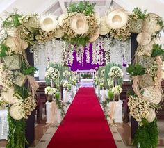 Filipino wedding theme inside the church