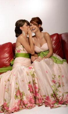 Luxury Wedding Bridesmaid Fashion Dresses - World of Bridal Printed Bridesmaid Dresses, Bridesmaid Flowers, Wedding Bridesmaid Dresses, Wedding Attire, Beautiful Prom Dresses, Pretty Dresses, Floral Fashion, Fashion Dresses, Disney Inspired Wedding