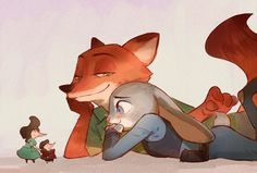 Zootopia - Nick Wilde x Judy Hopps - Wildehopps Nick Wilde, Disney Dream, Disney Love, Disney Magic, Zootopia Fanart, Zootopia Comic, Zootopia Characters, Film Disney, Disney Fan Art