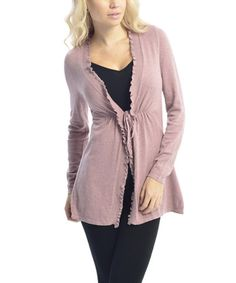 Love this Pink Ruffle Open Cardigan by VICE VERSA on #zulily! #zulilyfinds