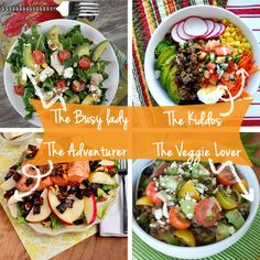 The Perfect Salad for the busy lady, the kiddos, the adventurer and the veggie lover,