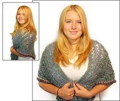 Crochet Tea and Sympathy' Shawl in Lion Brand Homespun - 50538-C | Crochet Patterns | LoveCrochet