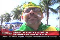 Protesta En Brasil A Favor Y En Contra De La Suspencion De La Presidenta Electa Dilma Rousseff
