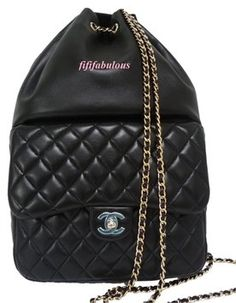 94fb4beb0dc6 CHANEL New Large Lambskin Leather Timeless Classic Flap 2016 Backpack  $5,195.00 Chanel Backpack, Black Backpack