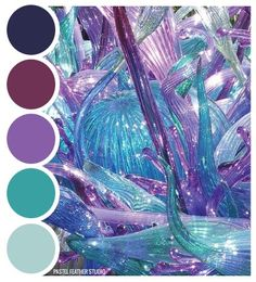 Purple color palette with teal accents Color Schemes Colour Palettes, Colour Pallette, Color Palate, Color Combos, Purple Color Schemes, Purple Palette, Color Tones, Apartment Color Schemes, Mermaid Coloring