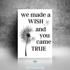 We Made A Wish And You Came True Printable Wall Art | Dream Print | We Made a…