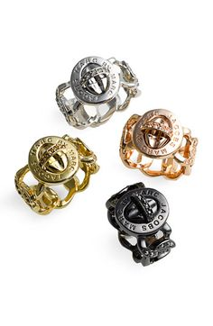 MARC BY MARC JACOBS 'Katie' Boxed Pavé Turnlock Ring -- hmmm I love these rings :)