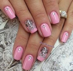 Soft pink & bling