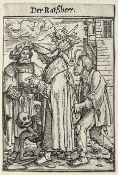 Canvas Print-Dance of Death: The Councillor. Creator: Hans Holbein (German, inch Box Canvas Print made in the UK Ex Libris, Hans Holbein The Younger, Arte Zombie, Dance Of Death, Christian Mysticism, Danse Macabre, Landsknecht, Hieronymus Bosch, Dark Art Drawings