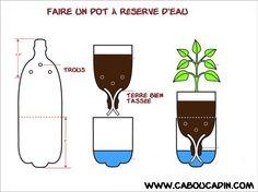 Pots a réserve d'eau