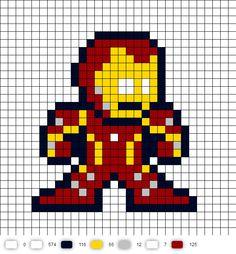 Iron Man Civil War Perler Bead Pattern