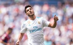 Download wallpapers Marco Asensio, Spanish footballer, Real Madrid, Spain, portrait, La Liga, football