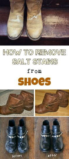 How to remove salt stains from shoes - Cleaning Tips