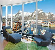 Genießen Sie den Ausblick vom Thon Hotel auf den Lofoten - Foto: Thon Hotel Lofoten