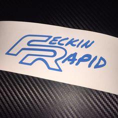 BLUE Feckin Rapid car Sticker Decal Seat FR Cupra Leon VAG