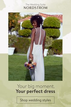 Your big moment deserves the perfect dress: Shop a variety of wedding styles and silhouettes at the Wedding Suite at Nordstrom. Tap the Pin now to start shopping. April Wedding, Summer Wedding, Wedding Day, Glitter Wedding Invitations, Wedding Suite, Chicken Tacos, Blush Roses, Beautiful Person, Barack Obama