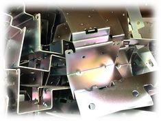 Zinc plated mild steel brackets manufactured from sheet metal in our factory in Fareham, Hampshire, UK Sheet Metal Work, Hampshire Uk, Portsmouth, Metal Working, Steel, Fabric, Tejido, Tela, Sheet Metal Shop