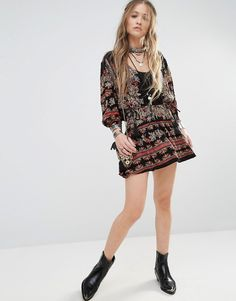 Image 4 of Free People Moonlight Drive Printed Mini Dress