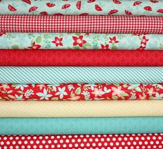 April Showers Quilt or Craft Fabric bundle by Bonnie and Camille for Moda Fabrics-Fat Quarter bundle, 9 total