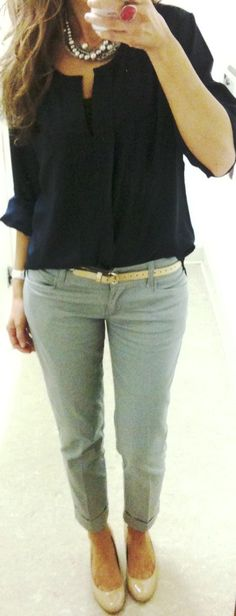 cropped pants + nude flats...need to get some of these