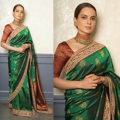 Katan Saree, Sabyasachi, Smokey Eye Makeup, Saree Blouse, Bollywood, Awards, Instagram Queen, Textiles, Indian