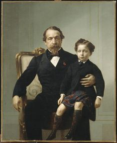 Napoléon III et le prince impérial sur ses genoux, Anonyme