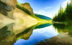 Lanjee Chee - Beautiful summer  mountain lake
