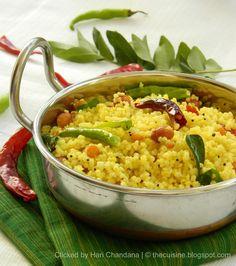 Indian Cuisine: Korra Biyyam Chitrannam ~ Millet Lemon Bhath