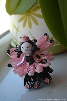 quilled fairy