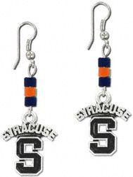 Syracuse Orange Wood Bead Earrings $12.99 http://www.fansedge.com/Syracuse-Orange-Wood-Bead-Earrings-_-1048146006_PD.html?social=pinterest_pfid44-13579