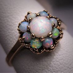 Antique Vintage Australian Opal Ring Victorian Wedding