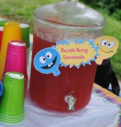 Yo Gabba Gabba birthday party dazzle berry lemonade