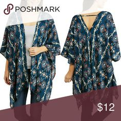 Tribal Cover-up 100% rayon.  Brand new with tags French Laundry Jackets & Coats
