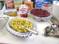 OOAK 1:12 Holiday Cornbread and Celery by CrownJewelMiniatures