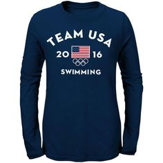 Team USA Swimming Women's Long Sleeve Very Official National Governing Bodies T-Shirt - Navy