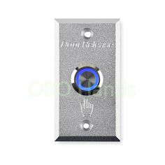 Metal Door Release Switch With LED Light Aluminium Alloy Door Exit Button emergency door security switch for home security alarm