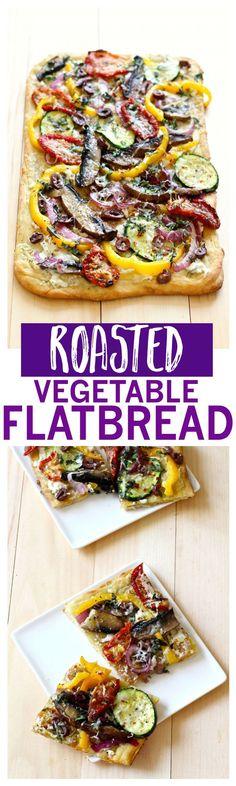 Roasted vegetable flatbread | Vegetarian, 30 minute recipe